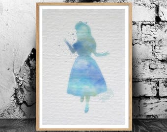 Alice in Wonderland *Full Set* A4 watercolour print, 220gsm canvas textured paper *FREE UK P&P*