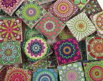 Ceramic mosaic tiles bright colors medallions moroccan tile for Carrelage fantaisie
