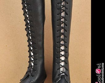 LS-17。Doll Leather High-Heeled Long Boots(SD/DD/Smart Doll)