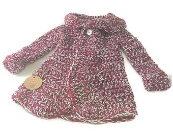 Crochet toddler cardigan jacket