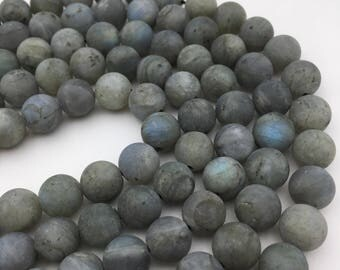 Nice Matte Labradorite Gemstone Round Loose Beads 6mm/8mm/10mm/12mm Approximate 15.5 Inches per Strand.R-M-LAB-0167