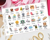 August Wacky Holidays Planner Stickers great for Erin Condren, Happy Planner, Schedule, Plum Paper, Filofax, Kikki K, TN, Days of the year