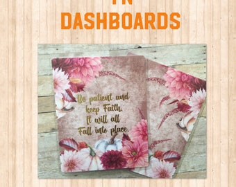 Fall/Autum Traveler's Notebook Dashboard/ Keep Faith