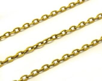 Chain bronze, fine, 3 x 2 mm