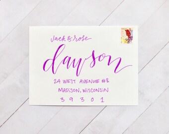 Wedding Envelope Calligraphy, Envelope Calligraphy, Wedding Envelope Addressing, Envelope Addressing, Wedding Calligrapher, Custom Envelopes