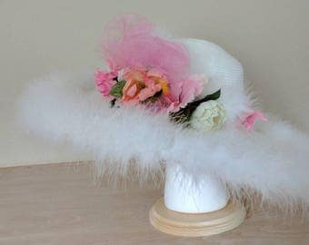White Edwardian Picture hat
