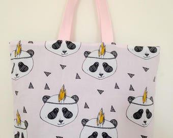 Bag child panda cotton