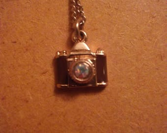 Necklace-Camera charm, handmade