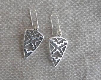 "Stylized ""Ethnic"" earrings"