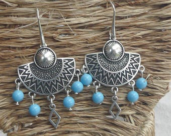 """""""Ethnic"""" silver plated earrings"""