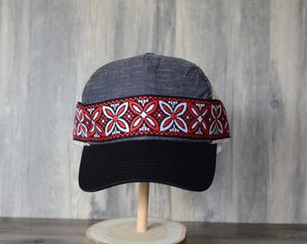 Hexagon Hat featuring Vintage Ribbon