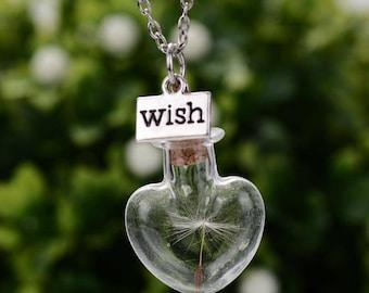 Dandelion Wish Necklace | Dandelion Seeds
