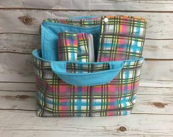Baby Shower Gift Basket for Girl Plaid Baby Gift