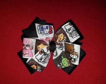 Hello kitty star wars double stacked bow