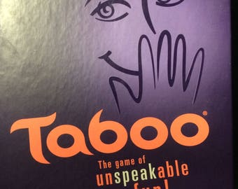 Taboo Board Game-2013 Edition W/Game Changing Die (Complete new game in open box)