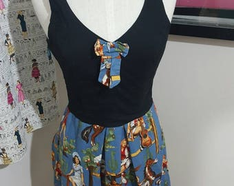 Country Pinup Dress Size M/L