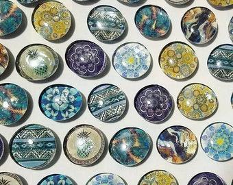 Handmade Magnets Blue designs