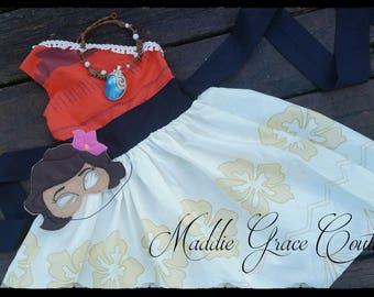 Moana of Motunui Themed Dress, Moana Dress