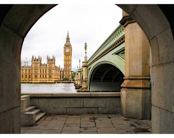 London photography, Big Ben, London wall art, London home decor, London art print, , travel photography, architecture art print, 20x30
