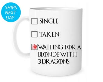 Game Of Thrones Mug, Game Of Thrones Gifts, Game Of Thrones, Gifts For Him, Funny Game Of Thrones, khaleesi, Daenerys, Targaryen