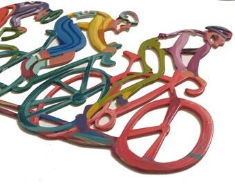 The Bikers Wall Sculpture, Bicycles Wall Sculpture, Metal Wall Art, Wall  Sculpture,