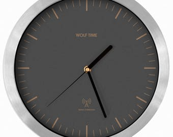 Grey Wolf Radio Controlled Wall Clock - MSF UK Signal