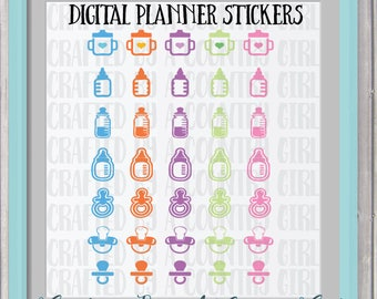 Digital Planner Stickers, GoodNotes Stickers, Ipad Pro Planner, Digital Journal Stickers