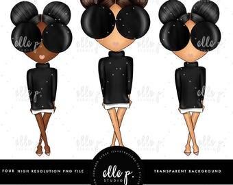 Baby Elle Dolls / Girl Clipart/ Girl Illustration/Planner Icon / Fashion Girl Clipart - 4 Baby Elle Dolls Included!