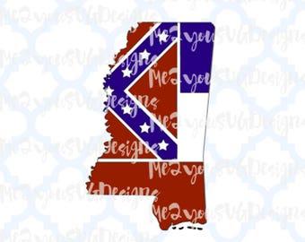 State of Mississippi Flag SVG,EPS,PNG,Studio