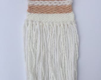 Woven Wall Hanging (blush + white)