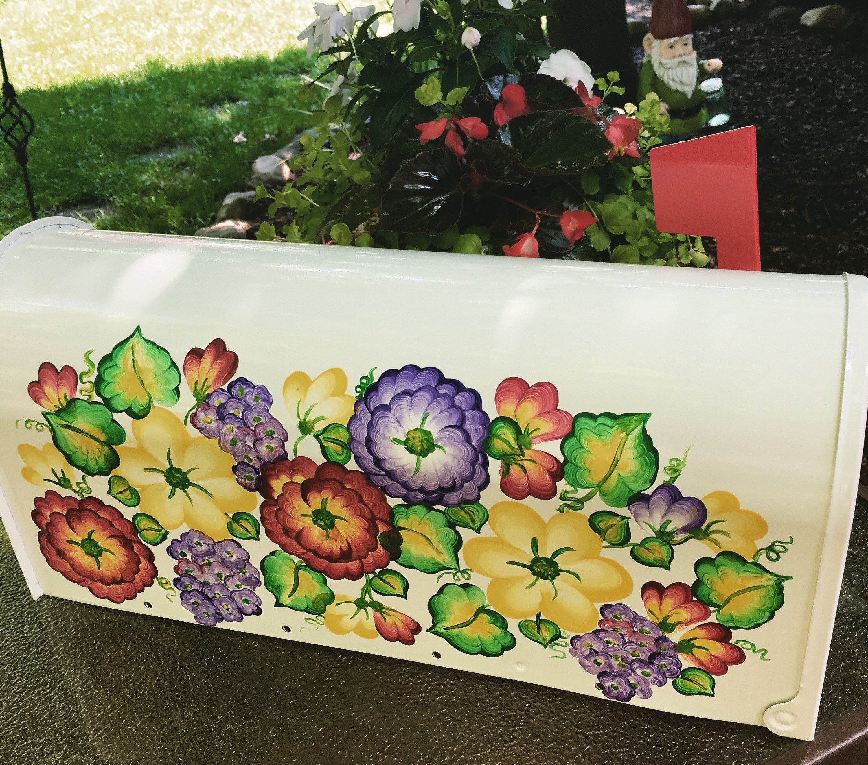 painted mailboxes floral mailbox decorative mailboxes custom mailboxes residential mailboxes hand - Decorative Mailboxes