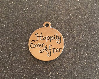 Happily ever after/Once upon a time double sided charm