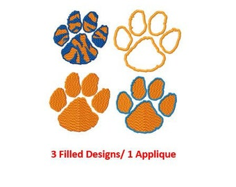 Bogo Free Embroidery, Clemson Tigers Logo Embroidery Design, Instant Download, 1 Inch, PES  format, Clemson Tigers Applique Logo