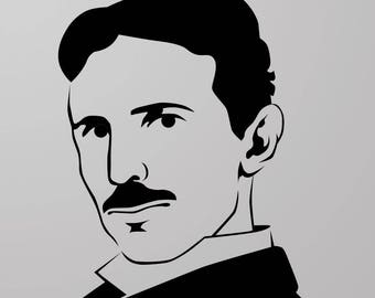 Nikola Tesla Face Vinyl Decal Sticker