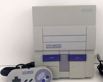 Rare Super Nintendo 1 Chip Console Bundle Tested Works SNES