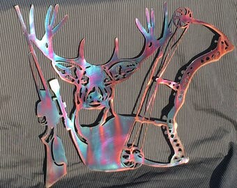 Metal wall art, Plasma cut metal art, Hunters delight