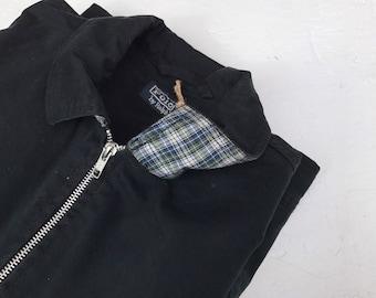 Ralph Lauren vintage black Harrington Jacket Coat Summer Casual Festival