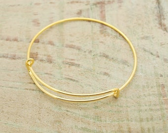 Gold plated 65 mm x 3 Bangle Bracelet