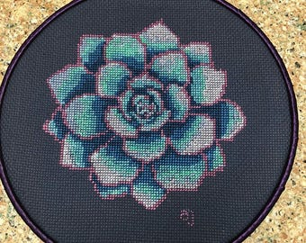 SALE Succulent cross stitch pattern, modern cross stitch patterns, cactus cross stitch pattern, pdf cross stitch, modern embroidery floral
