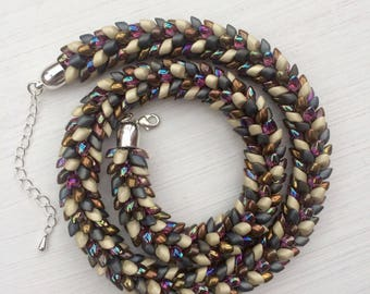 Magatama Beaded Necklace
