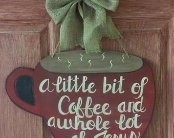 Coffee Wooden Door Decor