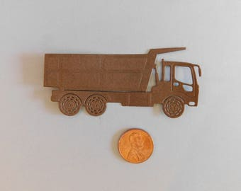 Die Cut Dump Truck / Birthday party confetti, Paper embellishments, cake toppers, table confetti, Teacher, cardmaking, scrapbooking supplies