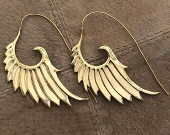 Goddess Wing Feather Earrings