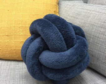 Navy blue bow pillow