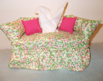 Floral Couch Tissue Box Cover