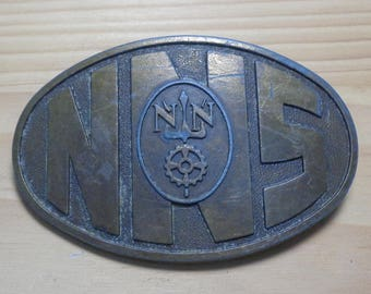 Vintage Newport News Shipbuilding Brass Belt Buckle, Military Ships NNS Belt Buckle/NNS Memorabilia/Military Collectible Belt Buckle