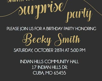 50th Surprise Birthday Invite
