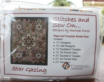Star Gazing paper and template STARTER pack