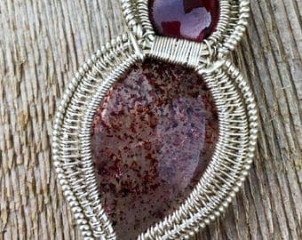 Garnet and Strawberry Quartz Pendant