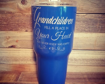 Grandparent Gift | Engraved Tumbler | Custom Cup | Stainless Steel Tumbler | Personalized Gift | Vacuum Insulated Cup |